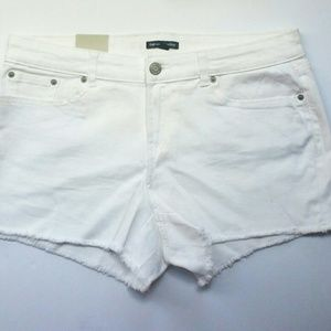 White Cut-Off Shorts Hadley Gap